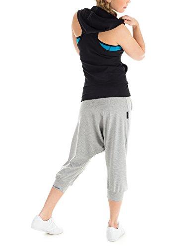 Winshape Damen Ärmellose Dance Freizeit Sport Hoodie-Weste WBU1 Schwarz (black)