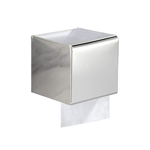 Toilettenpapierhalter Geschlossener Silberner Edelstahl-Badezimmer-Seidenpapier-Halter Für Rollenpapier Und Widerstandpapier (größe : S)