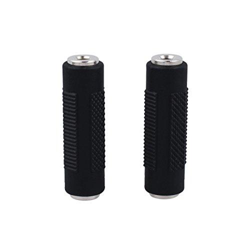 CE-Link Stereo Audio Adapter 3,5 mm Klinken Buchse zu 3,5mm Klinken Buchse Universal Konverter Klinkenstecker Versilberte Kontakte - Schwarz, 2 Stück