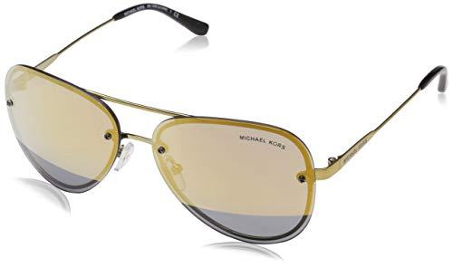 Michael Kors Damen LA Jolla 11681Z 59 Sonnenbrille, Pale Gold-Tone/Blockgoldmirror