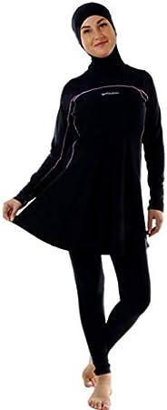 Veilkini Value Sporty Full Cover Swimsuit V01VEL0190103, Black