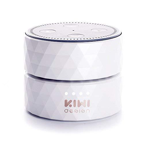 Akku für Dot 2. Generation, Dot Akku, 10000mAh Dot Powerbank Batteriestation, 17 Stunden Ununterbrochenen Gebrauch(Weiß