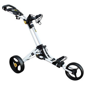 iCart Go - 3 Wheel Push Trolley White/Yellow
