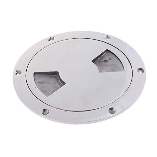 Tubayia Edelstahl Bootsdeckplatte Marine Boot Inspektionsluke Zugang Schraubdeckplatte (Silber 197mm) -