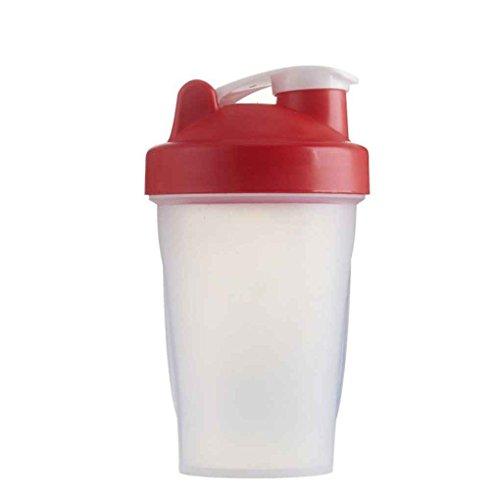 400ml Secouer Gym Protein Shaker Mixer Drink Fouet Boule Portable LeakProof Sport Camping Shaker Bouteilles d'eau Regard
