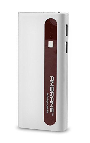 Ambrane P-1310 13000mAH Power Bank (White-Brown)