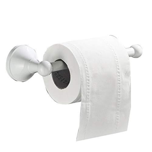 Flybath Toilettenpapierhalter ohne Deckel Messing Bad WC-Rollenhalter Wandmontage, Weiß