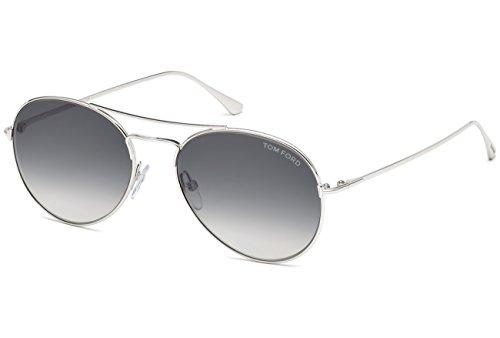 Tom Ford Unisex-Erwachsene FT0551 18B 55 Sonnenbrille, Grau (Rodio Lucido/Fumo Grad),