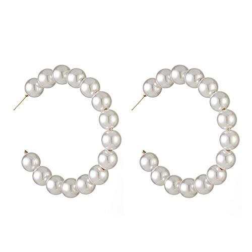 big face cat Orecchino perla temperamento orecchini grande anello femminile, perle E548015,