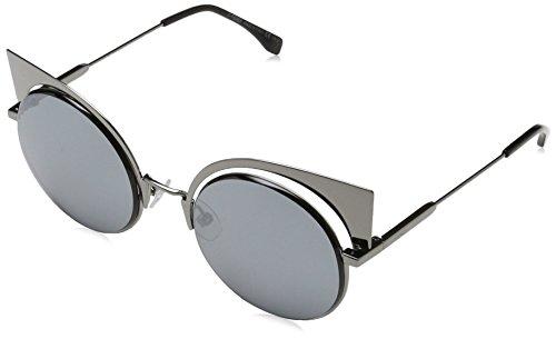 Fendi ff 0177/s t4 kj1, occhiali da sole donna, argento (silber), 57