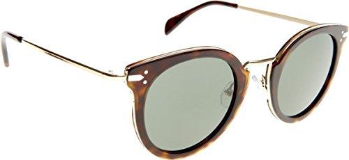 Celine Für Frau 41373 Dark Tortoise / Gold / Grey / Green Gestell Aus Metall Und Kunststoff Sonnenbrillen