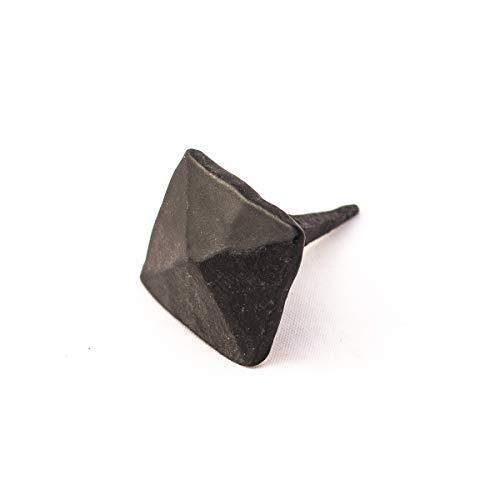 Antikas | Geschmiedete Nägel | Nagel aus Schmiedeeisen | Ziernagel | viereckiger Kopf | 25 x 25 x 8mm | Eisennagel|