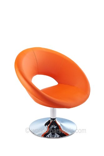 Designer Faro Swivel Chair Orange