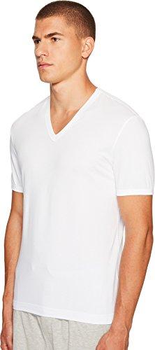 Dolce&Gabbana Underwear Herren T-Shirt V Profondo, D&G S-XL - Schwarz oder Weiß Weiß
