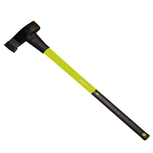Xclou Holzspalthammer, Beil, Stahlhammer, 3 kg,  schwer, schwarz und grün, ca.  87,5x21x5 cm