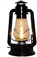 SPHINX Traditional Vintage Style Iron Matte Black Electric Lantern - 1 Piece