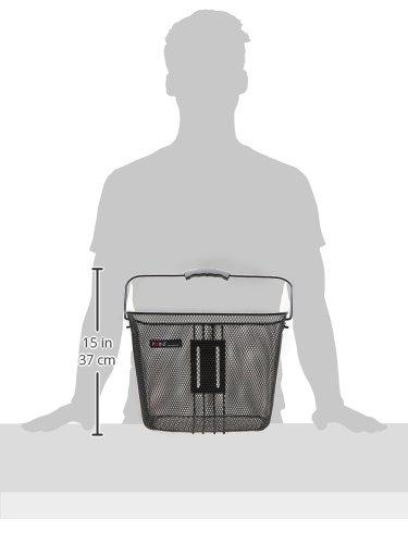Point Vorderradkorb Ergo-Griff- passend für Quickhalter C, 34x25x27cm Schwarz
