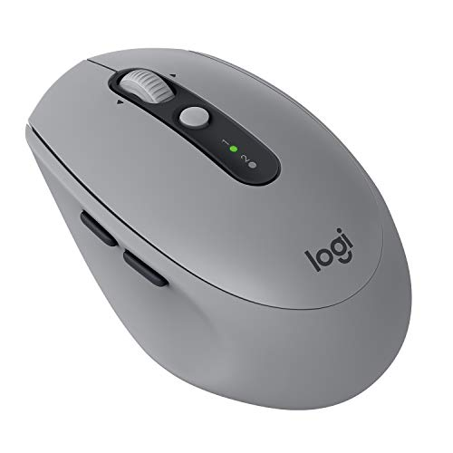 Logitech M590 Silent kabellose Maus (Multi-Device Silent Bluetooth-Maus für Windows/Mac) mid grau