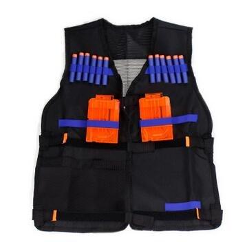 QQPOW Taktische Weste Nerfweste Elite taktische Weste Tactical Vest Atmungsaktive einstellbare ladbare kugelsichere Elite-Weste Weste für Nerf (nur weste)