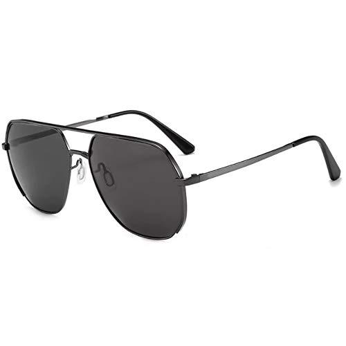 CHKE Unisex Driving Sonnenbrille, Herren Polarisierte Sonnenbrille Damen Vintage Metallrahmen Design Klassische Sonnenbrille für Reisen und Fahren im Freien,Darkgray
