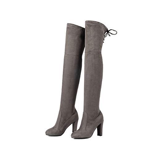 PIAOLDXZ Stivali Stivali sopra Il Ginocchio da Donna Caldi Invernali Mantengono Caldi Stivali da Moto Cort