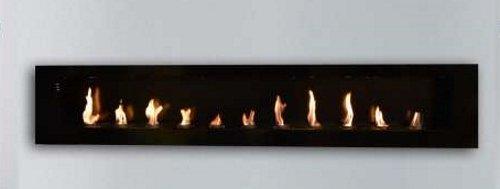 Wandkamin / Ethanolkamin / Gelkamin 200 x 40 x 15xm schwarz