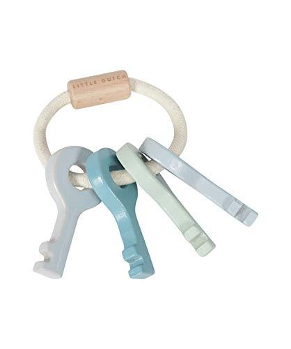 Tiamo Little Dutch Baby Schlüssel Schlüsselbund aus Holz blau
