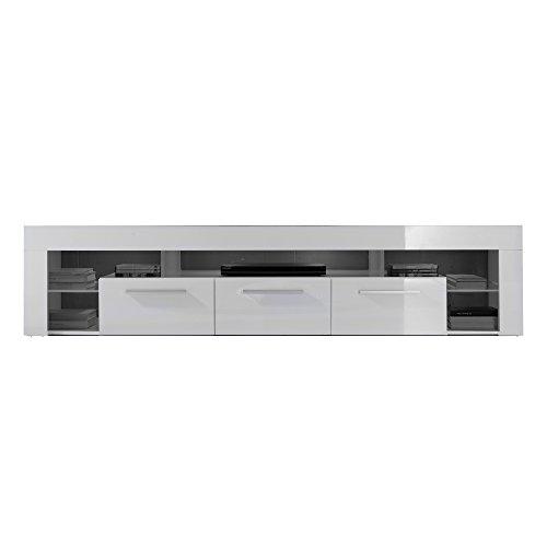 trendteam SC85201 TV-Möbel, Lowboard, Weiß Hochglanz