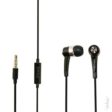 Original Samsung Headset EHS44AFSBE für Samsung Galaxy S Duos 2 S7582 Kopfhörer in schwarz mit Anrufannahmeknopf (Samsung Galaxy S Duo 2)