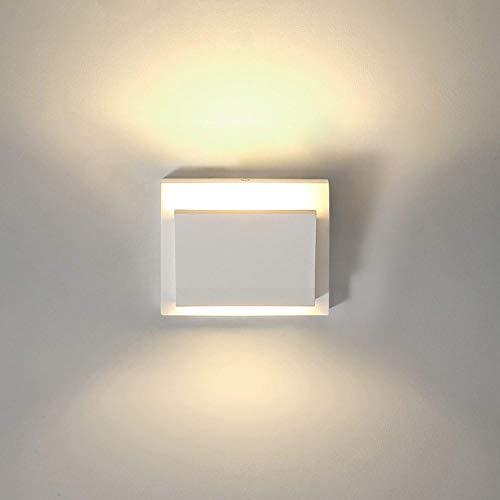 LED Moderne Wandleuchte, 7 Watt 2700 Karat Spot Warmweiß LED Wall Up Feuerzeuge Gips Nachttischlampe Beleuchtung für Treppe Schlafzimmer Wohnzimmer Flur Veranda Büro (mit einer 7 Watt G9 LED Lampe)