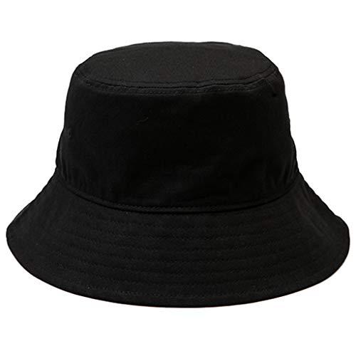 Hüte Hut Herbst und Winter Fischer Hut Männer wilde Sonnenblende einfarbig Mode Hip-Hop-Becken Hut Mode Mantel mit einstellbaren Geschenk Winterhut Größe (Color : Black, Size : ()