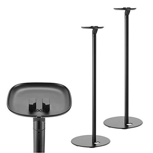 2 x Ständer für SONOS ONE/SL und Play 1 Lautsprecher Boxen Halter Lautsprecherständer Play:1 Schwarz 2 er Paar Set Box Befestigung Montage ARLI Black