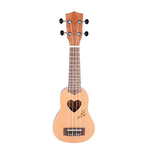 Wandisy 4 String Ukulele, 17 Zoll tragbare Ukulele mit Tasche Geschenk für Mädchen Kinder Freunde(Helle Holzfarbe)