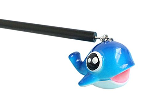 2 morceaux de Cartoon Bricolage Bois Accessoires cheveux, baleine bleue