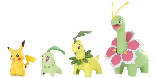 Pokemon Plamo Collection (Pokebla) Plastic Model Kit / Modellbausatz Figuren: Meganie Evolution Set & Pikachu (zum Zusammenstecken)
