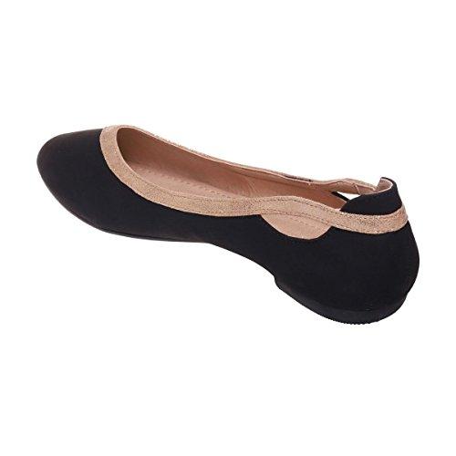 La Modeuse - Ballerinesen simili cuir mat Noir