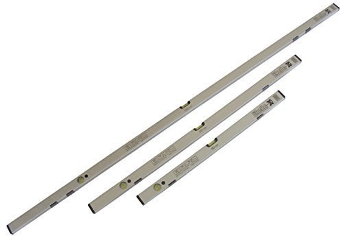 Wasserwaagen Set - 80/120/200 cm magnetisch - mit hoher Genauigkeit (0,5mm/1m)