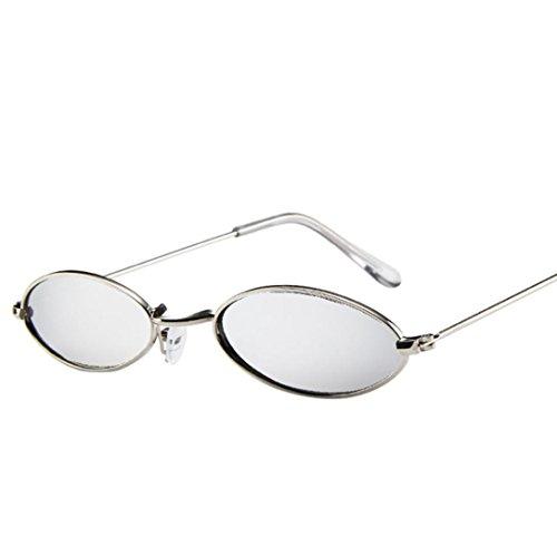 Vovotrade Sonnenbrille, Mode Mens Womens Retro kleine ovale Sonnenbrille Metallrahmen Shades Eyewear kleinen Rahmen Brillen Sonnenschutz für Reisen fahren (G)