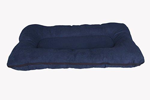 hundeinfo24.de Hundebett / Hundekissen XXL 120×80 cm, dunkelblau, Hundematratze