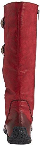 Rieker 79970-36, Bottes femme Rouge (burgundy)