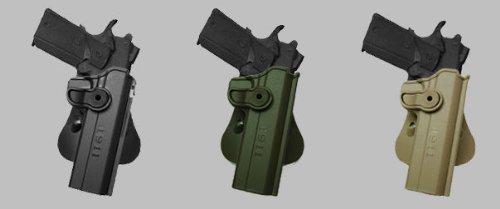 Verdeckte Carry Hand Gun Polymer Retention Roto Holster für 1911Varianten W/WO Rails, 12,7cm OD GREEN IMI RSR Defence Gun/Pistol Holster