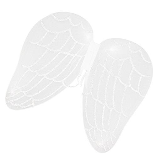 MagiDeal Kinder Mädchen Fee Flügel, Party Kostüm Zubehör, Feen Kostüm für Kinder, Halloween cosplay Flügel - Weiß Engel, 43 x 40 - Machen Fee Flügel Kostüm