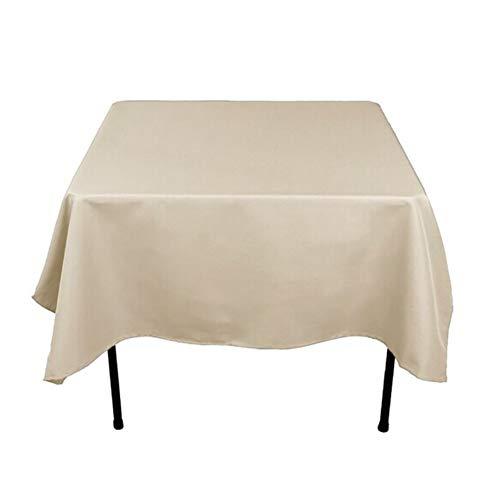Aich tinta unita poliestere quadrata tovaglie, lavabile ruga libero copritavolo ottimo per tavolo buffet, bar, cena di vacanza, ornamento della casa-champagne 59x59inch(150x150cm)