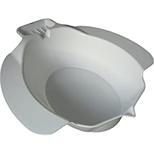 Pflegehome24® Bidet, weiß – Toiletteneinsatz Sitzbad aus Kunststoff und mit Seifenablage