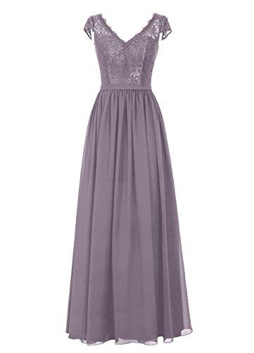 Dresstells, Robe de soirée, robe de cérémonie, robe longue de demoiselle d'honneur Gris