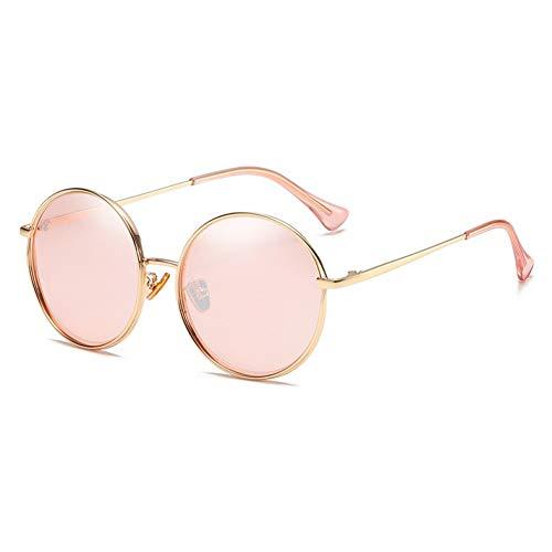 ZRTYJ Sonnenbrillen Zukünftige Kupfer Metall Sonnenbrille Frauen Polarisierte Spiegel Hochwertige Brillen Damen Runde Trendy Sonnenbrille