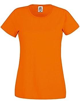 Fruit of the Loom - Camiseta de manga corta para mujer