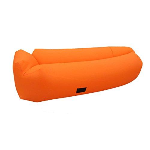 Aufblasbare Liege Tragbares Luftbett Schlafendes Aufblasbares Sofa Reisen Camping Strand Park Hinterhof. Multicolor,OrangeR-260*70cm