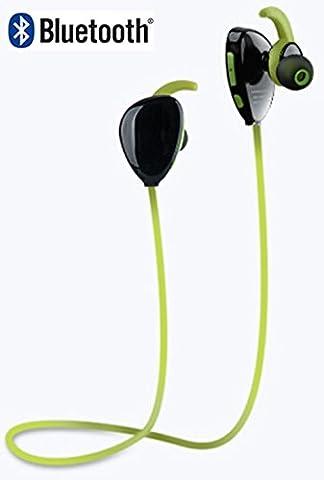 AntilaTech Wireless Bluetooth 4.1 Sports Headset mit aptX Audio & CVC Noise Cancellation, Mikrofon, tiefe Bässe, Freisprechfunktion, Sweat-Proof, Tangle-Free, In-Ear, Stereo Kopfhörer/Ohr telefone für Sport- und Musik Enthusiasten. Geeignet für Bluetooth Geräte eine solche wie iOS/Windows/Android Smartphones/Tablets, Laptops und die meisten anderen Bluetooth Audioquellen