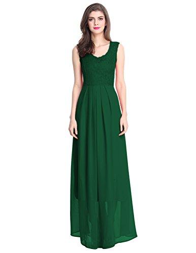 Sue&Joe - Robe - Taille empire - À Fleurs - Femme Vert - Vert